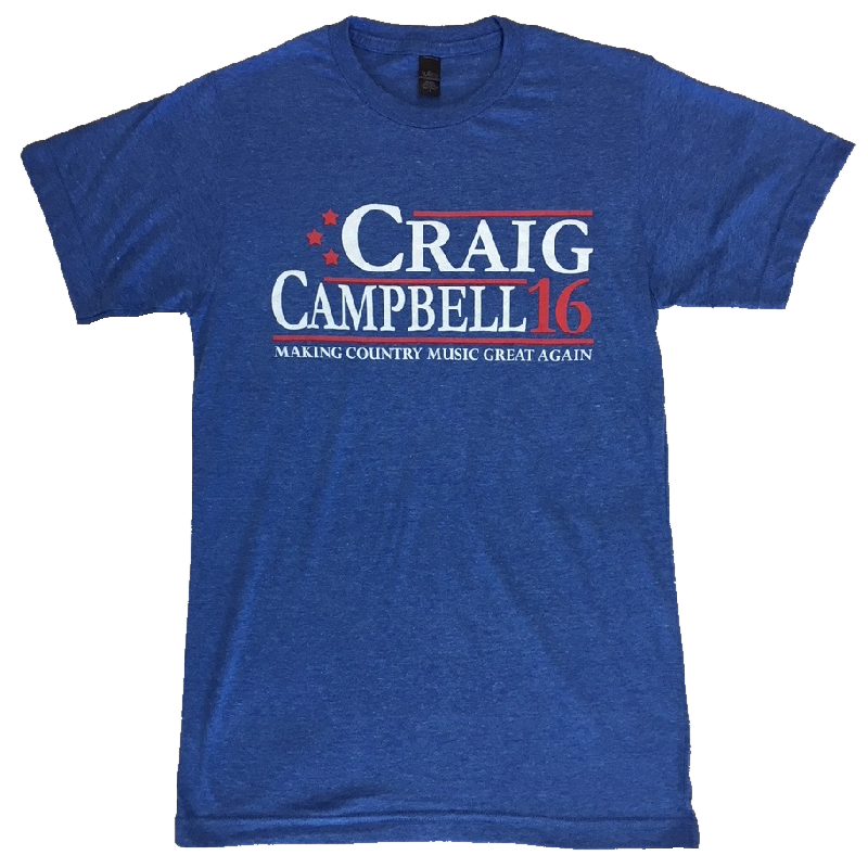 Craig Campbell Heather Royal Tee