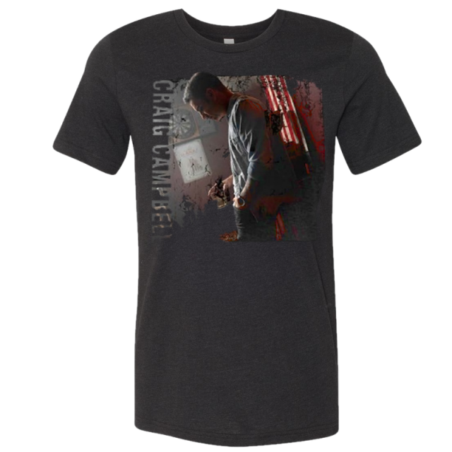 Craig Campbell Black Heather Photo Tee