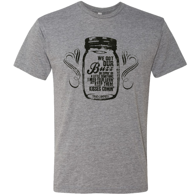 Craig Campbell Heather Grey Tee- Keep Them Kisses Comin'