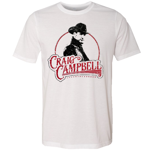 Craig Campbell White Photo Tee