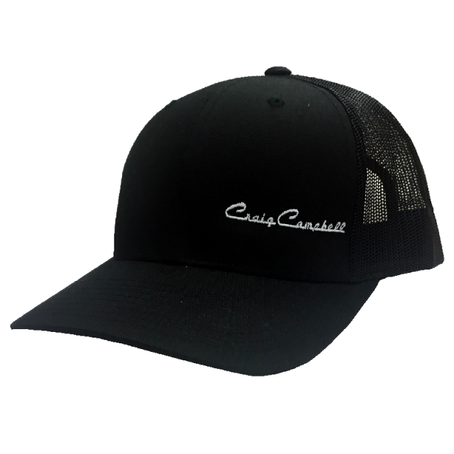 Craig Campbell Black Ballcap w/ Off Center Logo